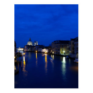 Canal Grande von Venedig bis zum Nacht Postkarte