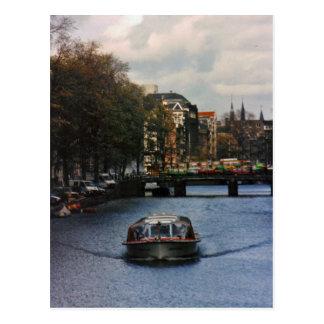 Canalboat Postkarte