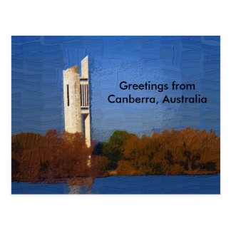 Canberra-Postkarte Postkarte