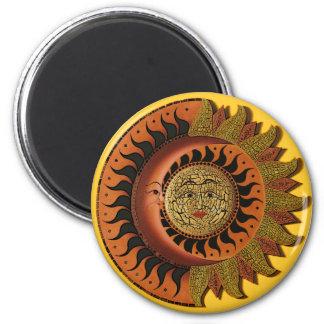 Cancunmayamond und Sun-Magnet Runder Magnet 5,7 Cm