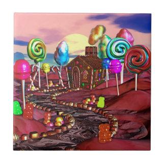 Candyland Kleine Quadratische Fliese