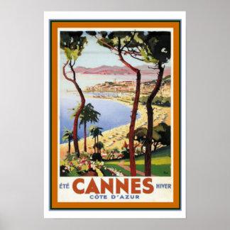 Cannes-Reise-Plakat ca.1938- 13 x 19 Poster