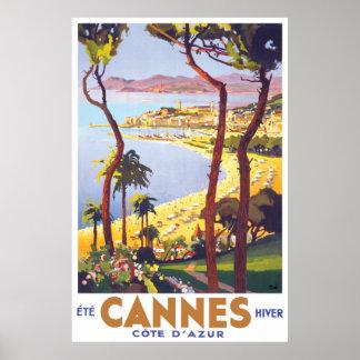 Cannes-Reise-Plakat Poster