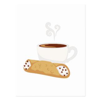 Cannoli u. Kaffee Postkarte