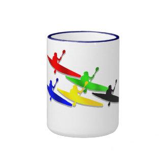 Canoeing Kyaking Kanu kyak Wassersport Kaffee Tasse