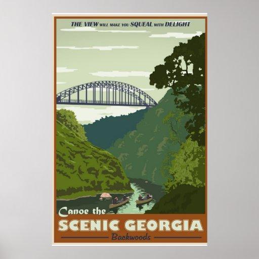 Canoeing Vintages Reiseplakat Posterdrucke