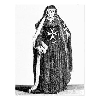 Canoness des Auftrages von Johannes von Jerusalem Postkarte