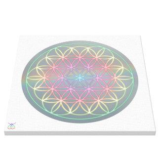 "Canvas ~ Healing~Energy ""Flower Of Life"" Leinwanddruck"