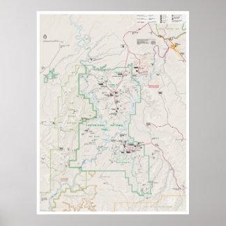 Canyonlands (Utah) Kartenplakat Poster