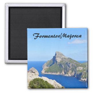 Cap de Formentor - Mallorca-Andenken-Magnet Quadratischer Magnet
