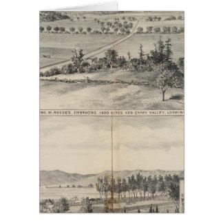 Capay Tal, Harlan Bauernhof Karte