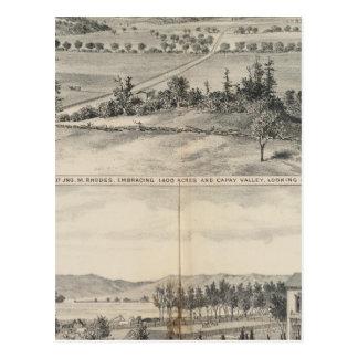 Capay Tal, Harlan Bauernhof Postkarte