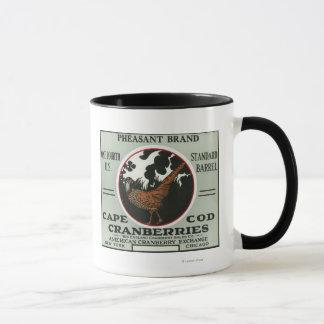 Cape Cod-Fasan-Marken-Moosbeeraufkleber Tasse
