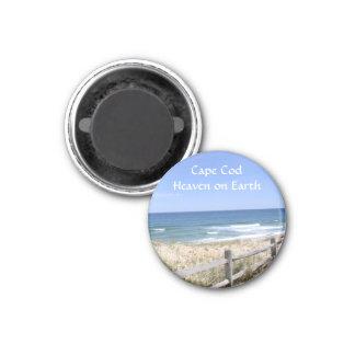 Cape Cod MA-Strand-Himmel auf ErdKühlschrankmagnet Runder Magnet 2,5 Cm