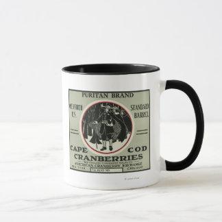 Cape Cod-Puritaner-Marken-Moosbeeraufkleber Tasse