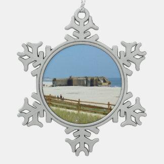 Cape May Bunker Schneeflocken Zinn-Ornament
