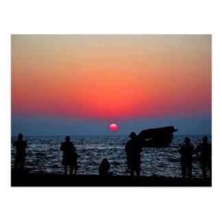 Cape May Sonnenuntergang Postkarte