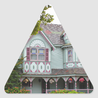 Cape May viktorianisch Dreieckiger Aufkleber