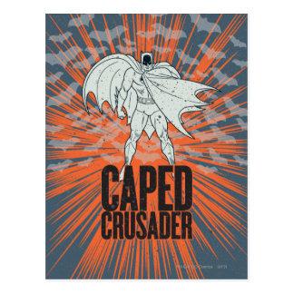 Caped Kreuzfahrer-Grafik Postkarte