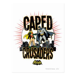 Caped Kreuzfahrer grafisch Postkarte
