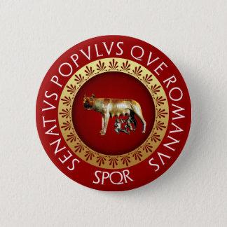 Capitoline Wolf Runder Button 5,1 Cm
