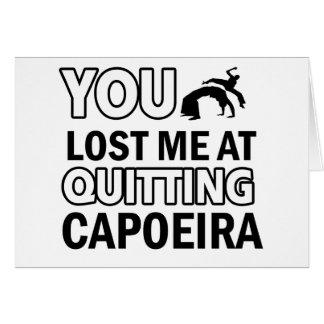Capoeira Entwürfe Karte