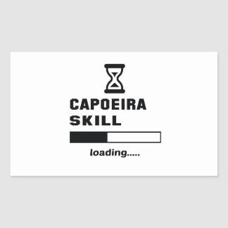 Capoeira Fähigkeit Laden ...... Rechteckiger Aufkleber