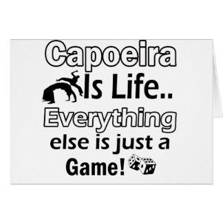 Capoeira Geschenkartikel Karte