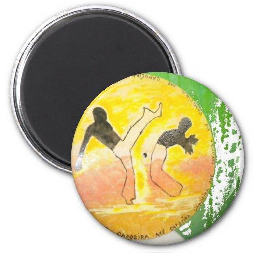 capoeira ginga Axtmagnet Kühlschrankmagnete