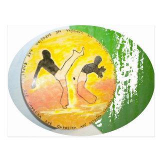 capoeira ginga Axtpostkarte Postkarte