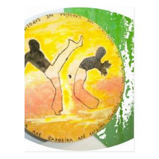 capoeira ginga Axtpostkarten Postkarte