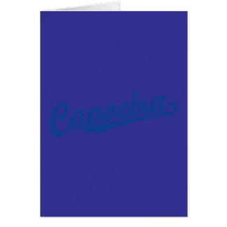 Capoeira im Blau beunruhigt Karte