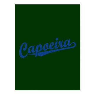 Capoeira im Blau beunruhigt Postkarte
