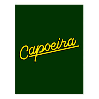 Capoeira im Gelb Postkarte