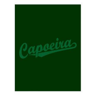 Capoeira im Grün beunruhigt Postkarte
