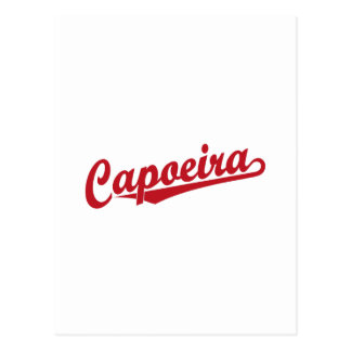 Capoeira im Rot Postkarte