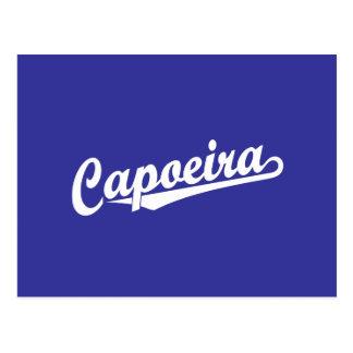 Capoeira im Weiß Postkarte