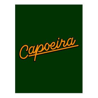 Capoeira in der Orange Postkarte