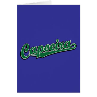 Capoeira in grünem extravagantem karte