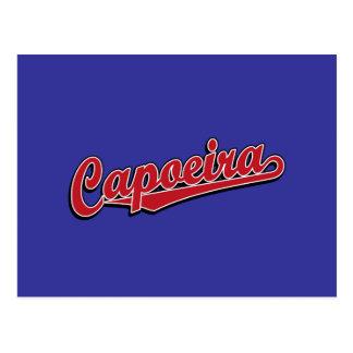 Capoeira in rotem extravagantem postkarte