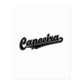 Capoeira in schwarzem extravagantem postkarte