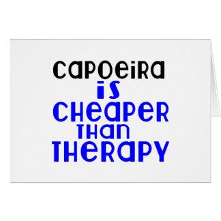 Capoeira ist billiger als Therapie Karte