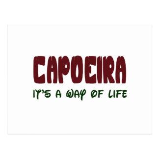Capoeira ist es eine Lebensart Postkarte