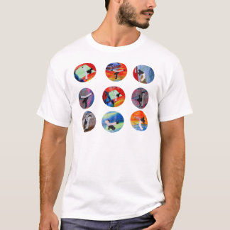 capoeira kreist cdo gemischtes Brasilien schwarzer T-Shirt