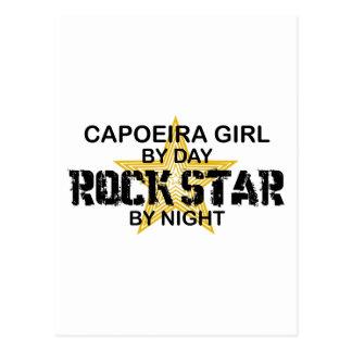 Capoeira Mädchen-Rockstar bis zum Nacht Postkarte