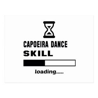 Capoeira Tanz-Fähigkeit Laden ...... Postkarte