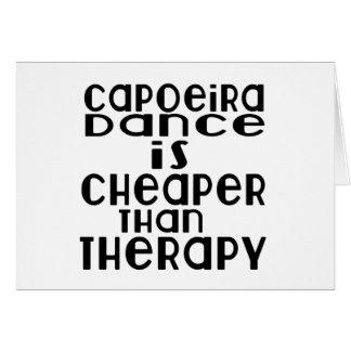 Capoeira Tanz ist billiger als Therapie Karte