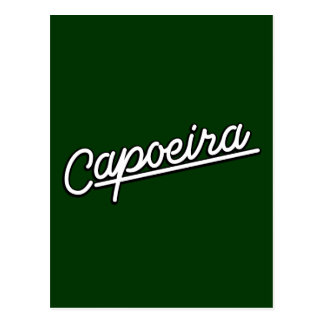 Capoeira Weiß Postkarte