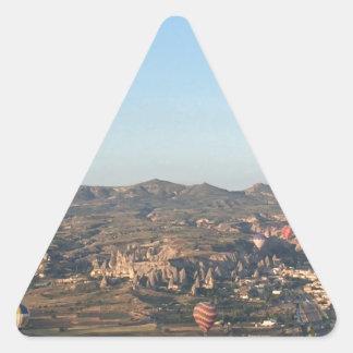 Cappadocia Sammlung Dreieckiger Aufkleber