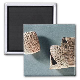 Cappadocian Brief und Umschlag, aus der Türkei Quadratischer Magnet